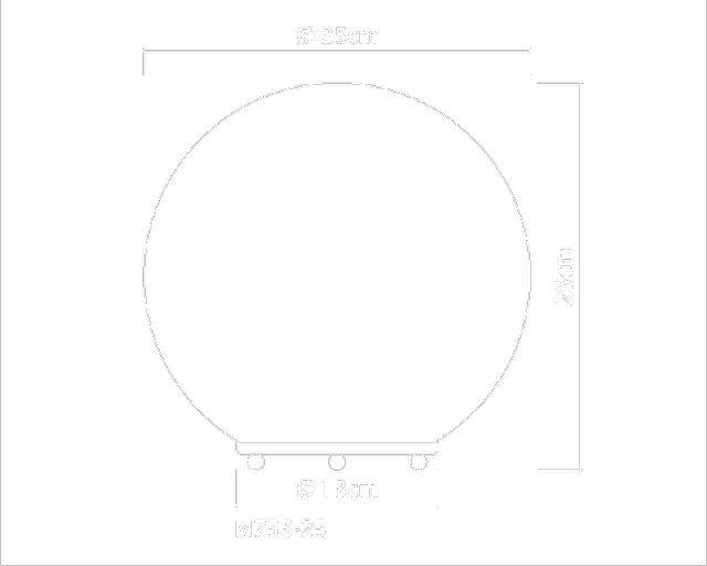 Luminária Vidro Opalina Sphera M755