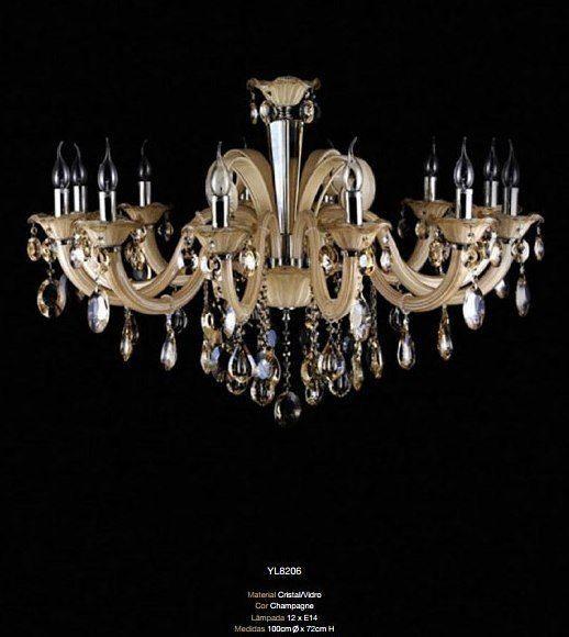 Lustre Murano 8 Luzes 8204 75cm