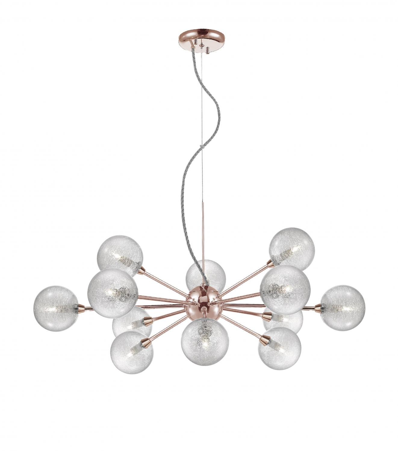 Lustre Pendente Atomy 12 X G9 78cm Quality PD1269