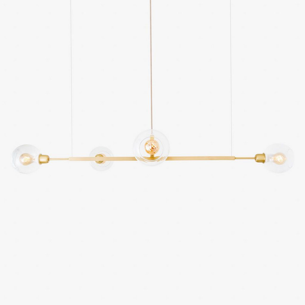 Lustre Pendente Quattro 100 Glass Golden Art T44100-V
