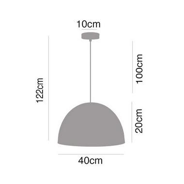 Pendente Alumínio Stela 1L Ø40CM P16051A-D40 - Premier
