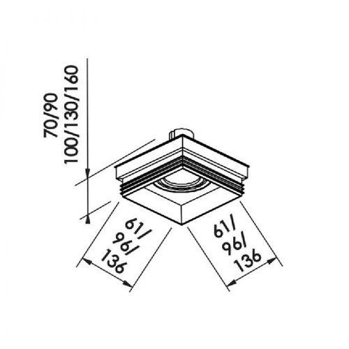 Spot Plafon de Embutir Branco AR111 Gu10 No Frame IN61351BT