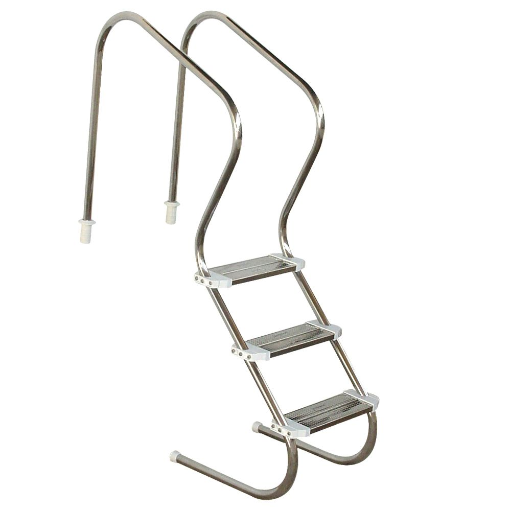 Escada para Piscina Sodramar Confort Luxo 2 pol 3 degraus Inox