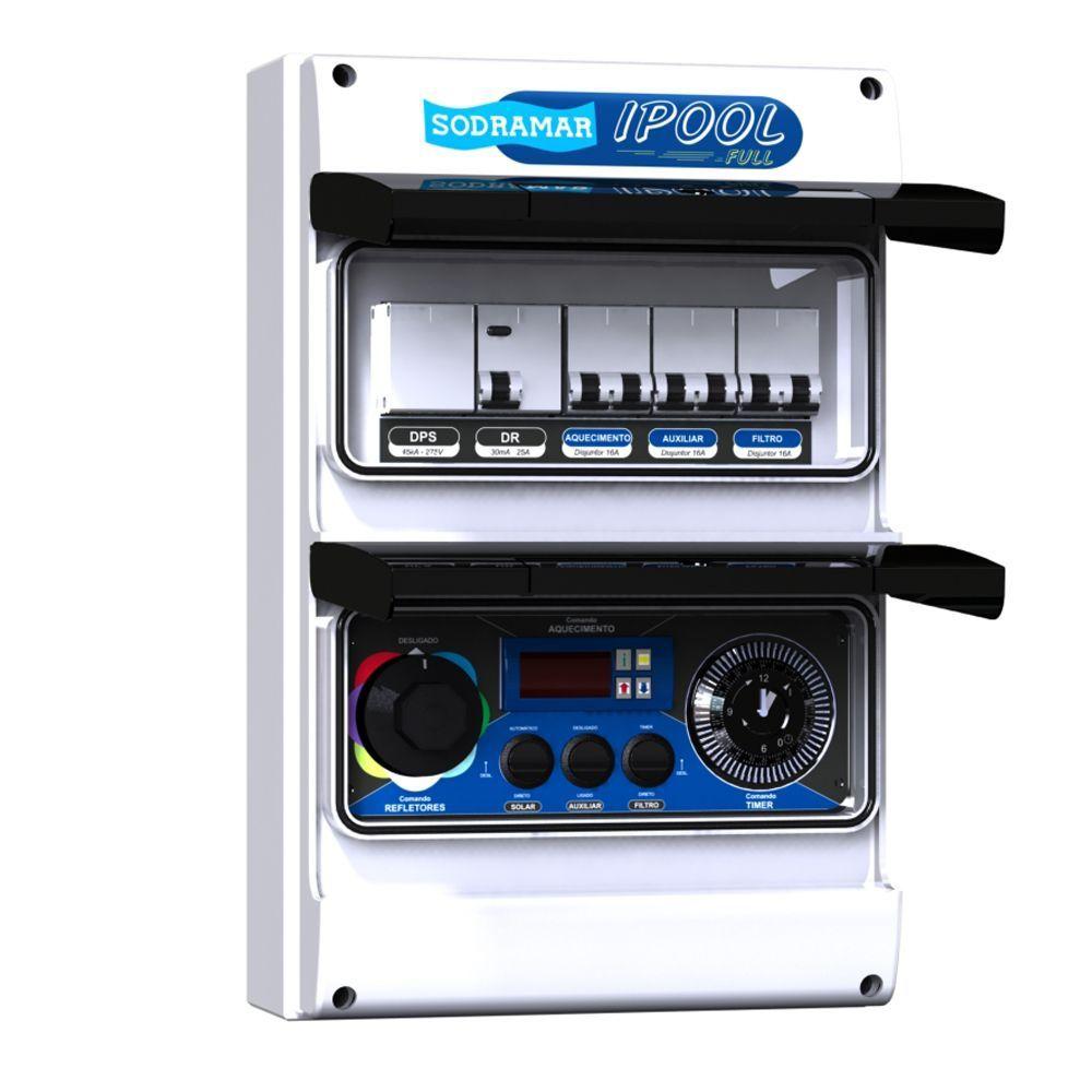 Painel I Pool Full para Trocador de Calor com Wi-FI para controle da iluminação RGB