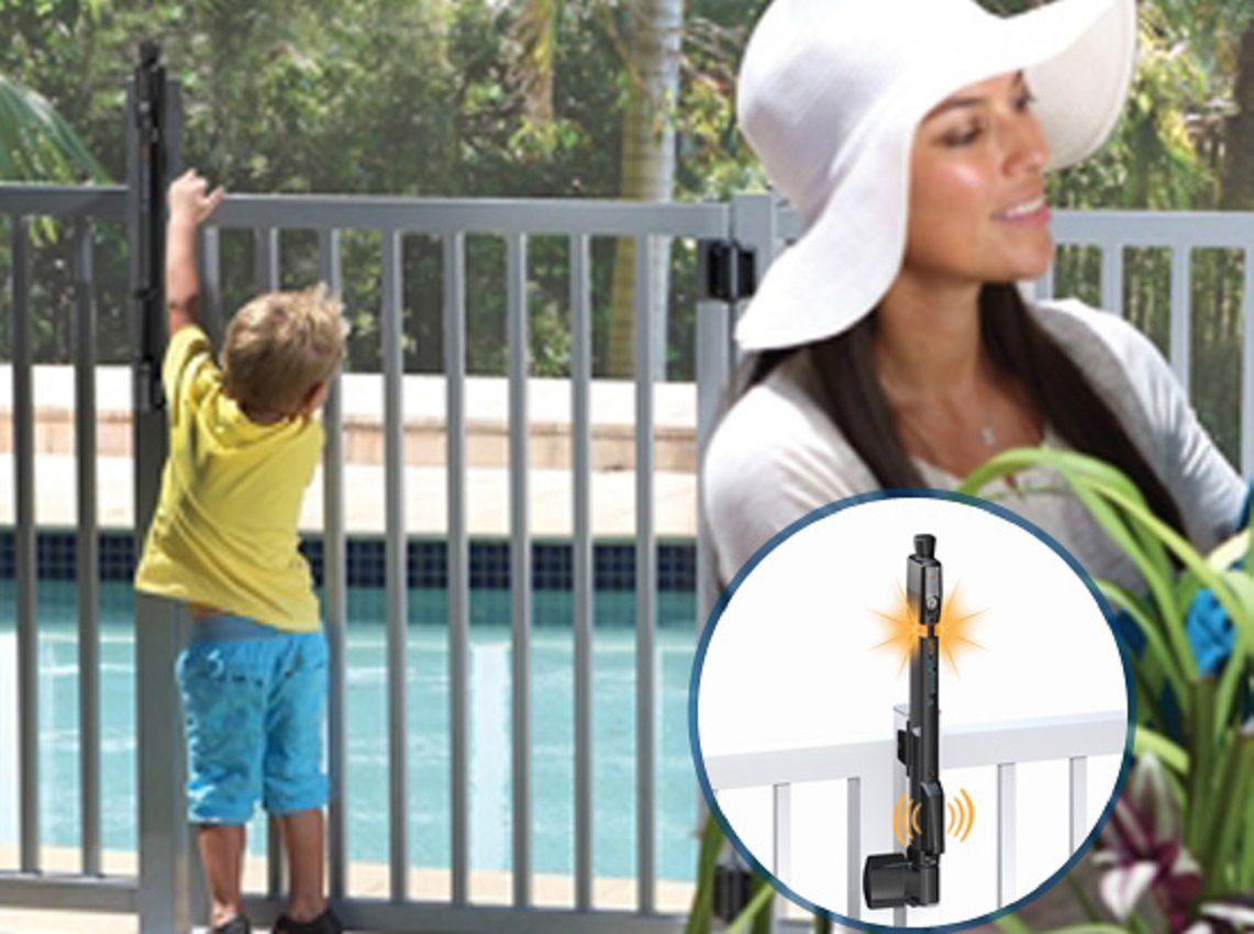 Trava de segurança magnética para portão de piscina sodramar