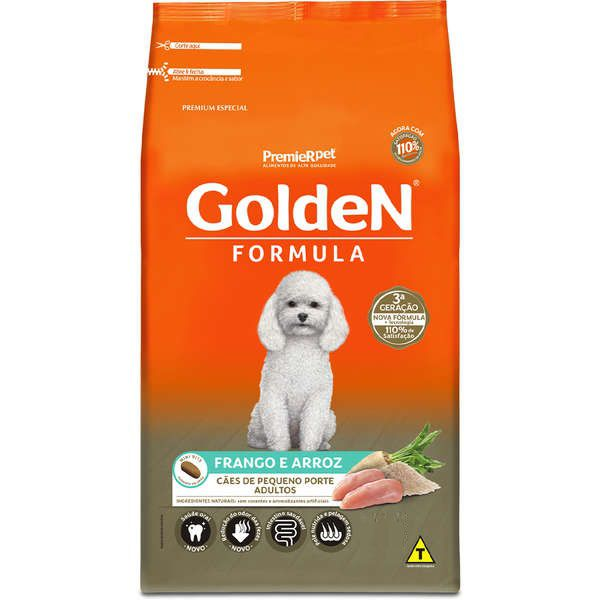 Golden Formula Adultos Mini Bits - 15kg - Frango e Arroz