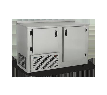 Balcão Refrigerado de Encosto Inox 405L 2 Portas Conservex