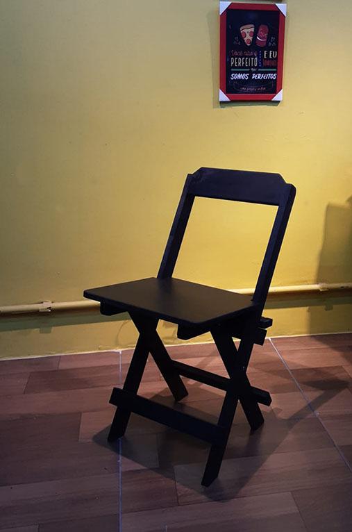 Cadeira Dobrável de Madeira Pinos