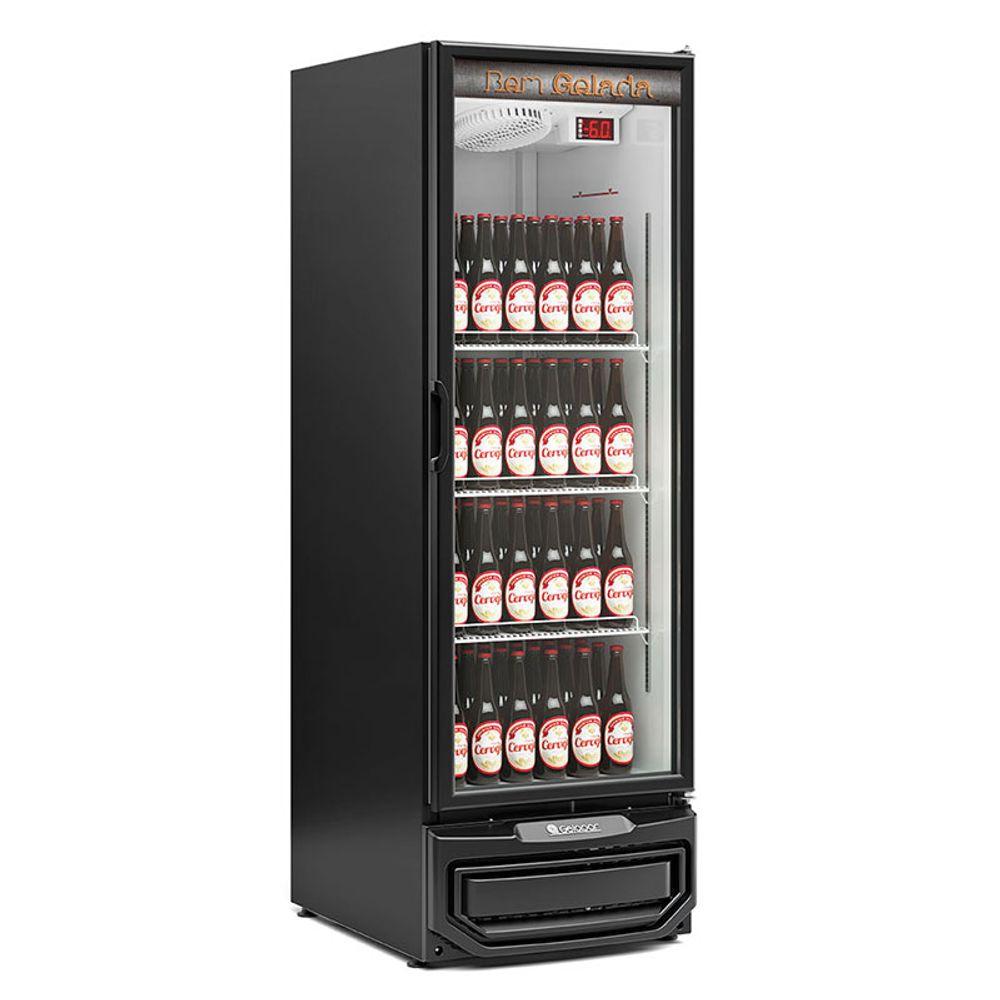 Cervejeira GRB-57PV PR Porta de Vidro Duplo Temperado Frost Free Capacidade 570 L Gelopar