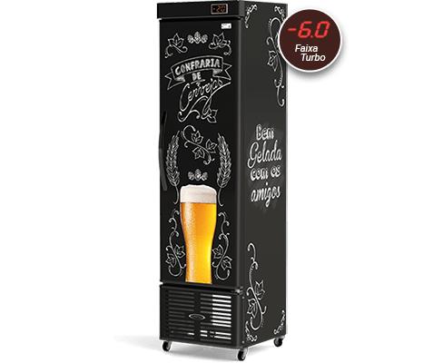 Cervejeira Slim 250L CRV-250/B Lousa de Bar Conservex
