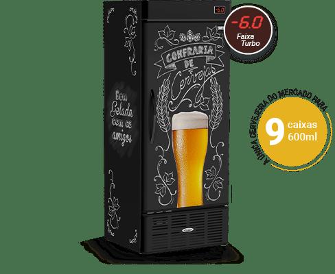 Cervejeira Vertical 600 Litros Lousa Beer CRV600B Conservex