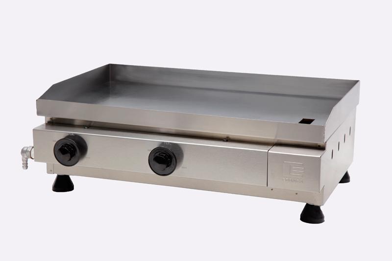 Chapa / Churrasqueira a Gás Linha Prata com 2 Queimador de Alumínio