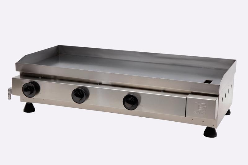 Chapa / Churrasqueira a Gás Linha Prata com 3 Queimador de Alumínio