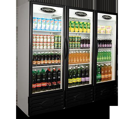 Expositor Refrigerado Vertical 3 Portas 1300L Conservex Black