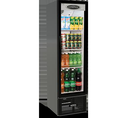 Expositor Refrigerado Vertical Slim 250L Conservex Black