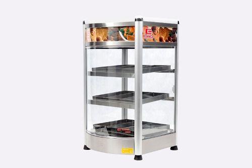 Estufa Vertical Linha Platina C/ Frente Curva Porta Pizza Com 3 Bandejas
