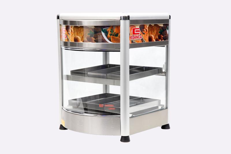 Estufa Vertical Linha Platina C/ Frente Curva Porta Pizza Com 6 Bandejas