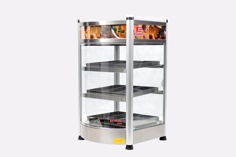 Estufa Vertical Linha Platina C/ Frente Curva Porta Pizza Com 9 Bandejas
