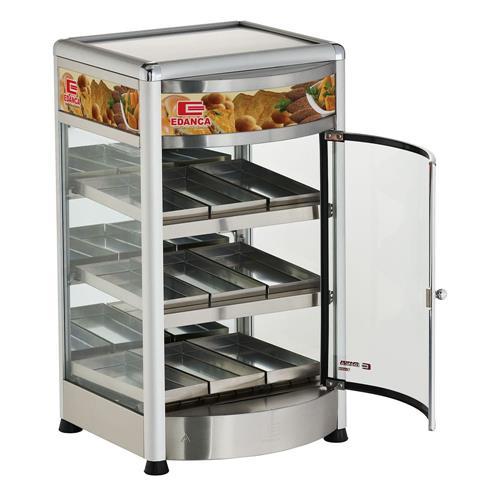 Estufa Vertical Linha Platina C/ Frente Curva Porta Pizza Com 9 Bandejas EVCSS9