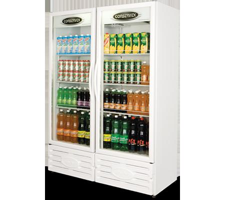 Expositor Refrigerado Vertical 2 Portas 850L Conservex