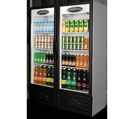 Expositor Refrigerado Vertical 2 Portas 850L Conservex Black