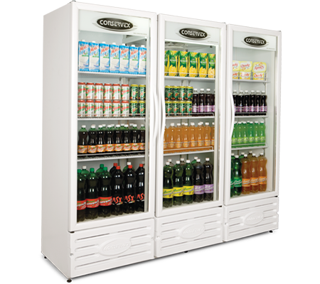 Expositor Refrigerado Vertical 3 Portas 1300L Conservex