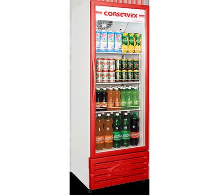 Expositor Refrigerado Vertical 400L Conservex Vermelho