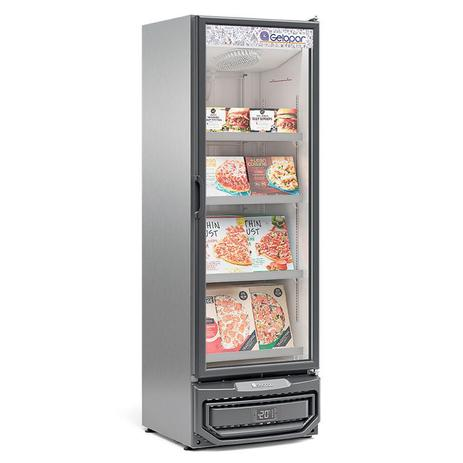 Freezer/Conservador Vertical Conveniência para Sorvetes e Congelados GCVC-45TI Tipo Inox 445 Litros Frost Free Gelopar