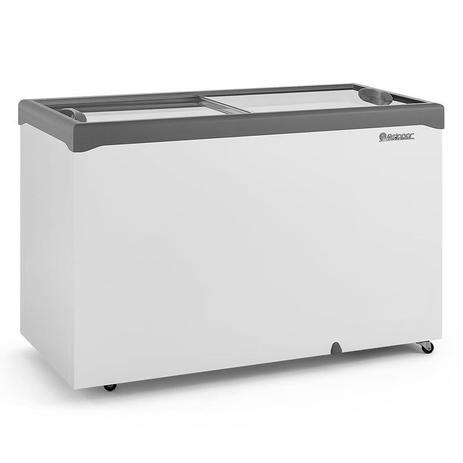Freezer Horizontal GHDE-410H CZ Dupla Ação 2 Tampas de Vidro Reto Deslizantes 413 L - Gelopar