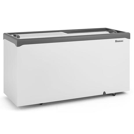 Freezer Horizontal GHDE-510H CZ Dupla Ação 2 Tampas de Vidro Reto Deslizantes 534 L - Gelopar