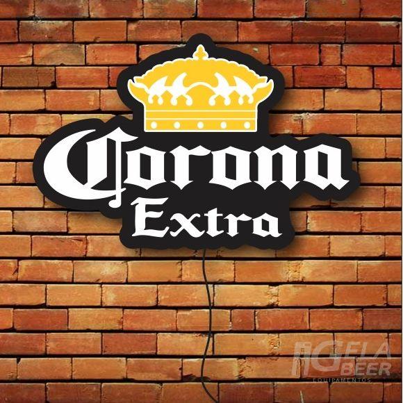 Luminoso de Parede Led Cerveja Corona