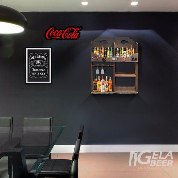 Luminoso de parede Led Coca Cola