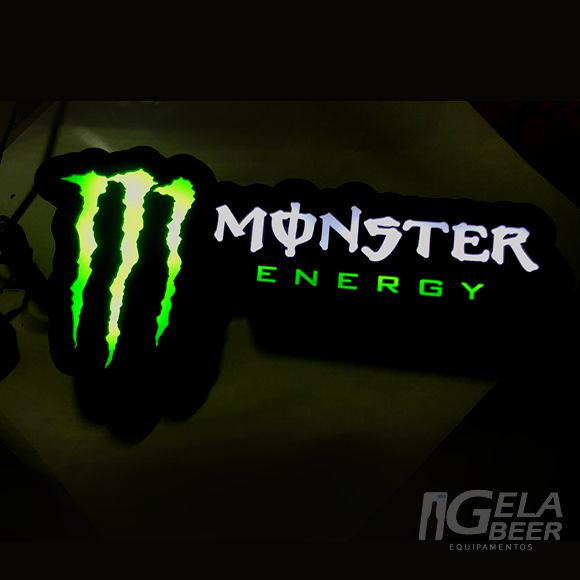 Luminoso de Parede Led Monster Energy