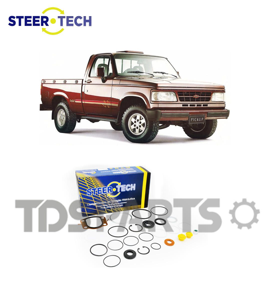 Reparo Caixa de Direção Hidráulica Chevrolet D20 | Silverado DHB