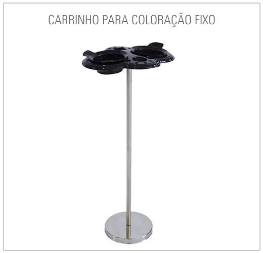 CARRINHO PARA COLORAÇÃO FIXO COM 2 POTES