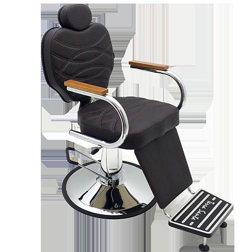 POLTRONA  POLO para Barbearia  reclinável base redonda