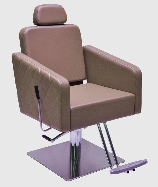 POLTRONA TICIANO reclinável com base inox quadrada