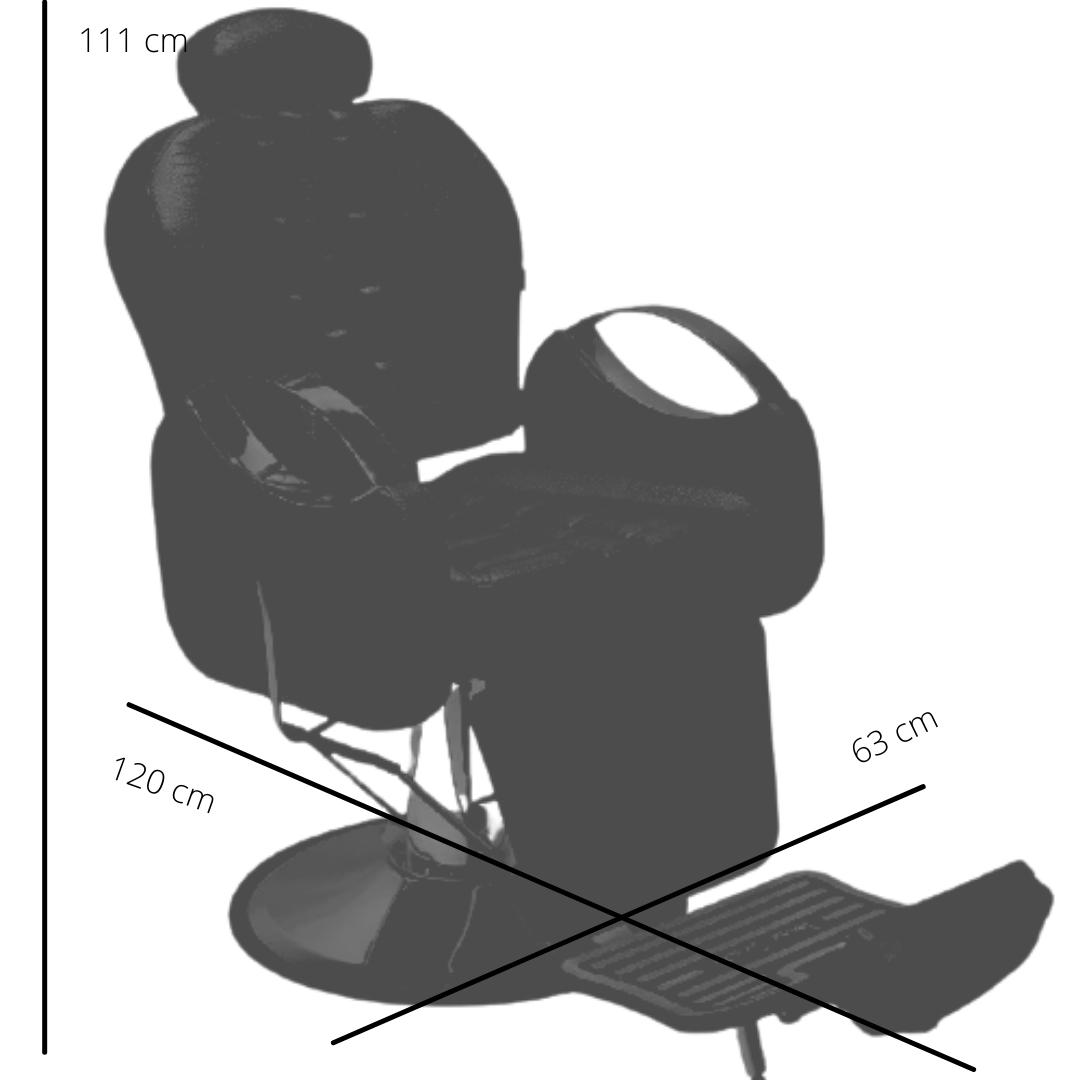 POLTRONA TISSOT reclinável base redonda cromada