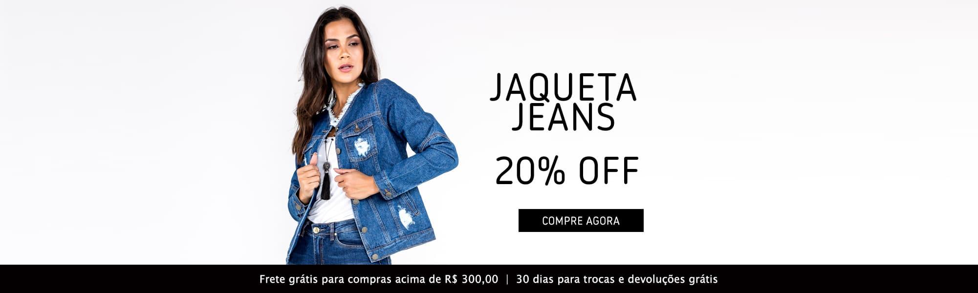 Jaqueta Jeans Feminina com Puídos - 20% desconto - Black November