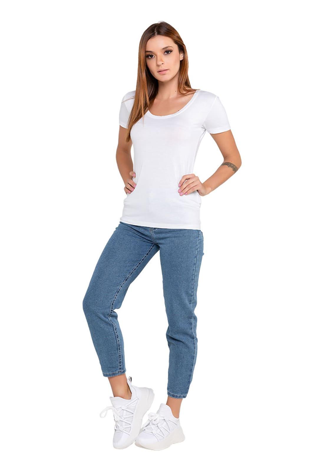 2 Camisetas Básicas Feminina -  Cores Preto e Branco
