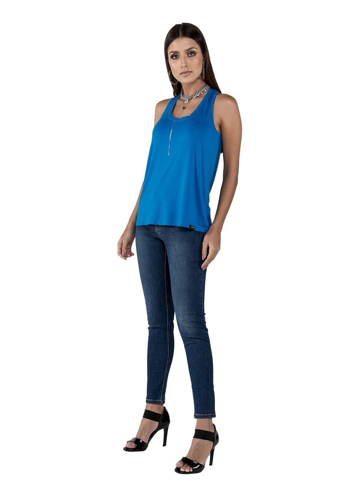 2 Regatas Feminina Latifundio - Cores Laranja e Azul