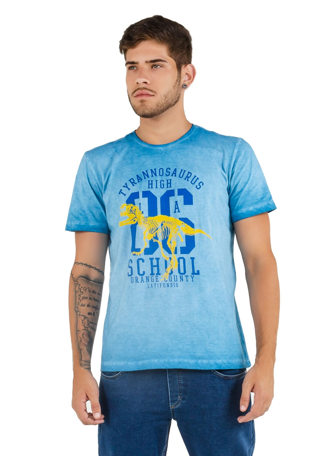 2 T-shirts Masculina - Estampa High School - Motorcycle Club