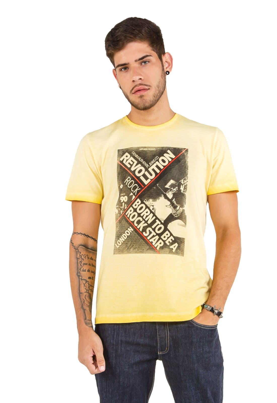 2 T-shirts Masculina - Estampa High School - Rock Star