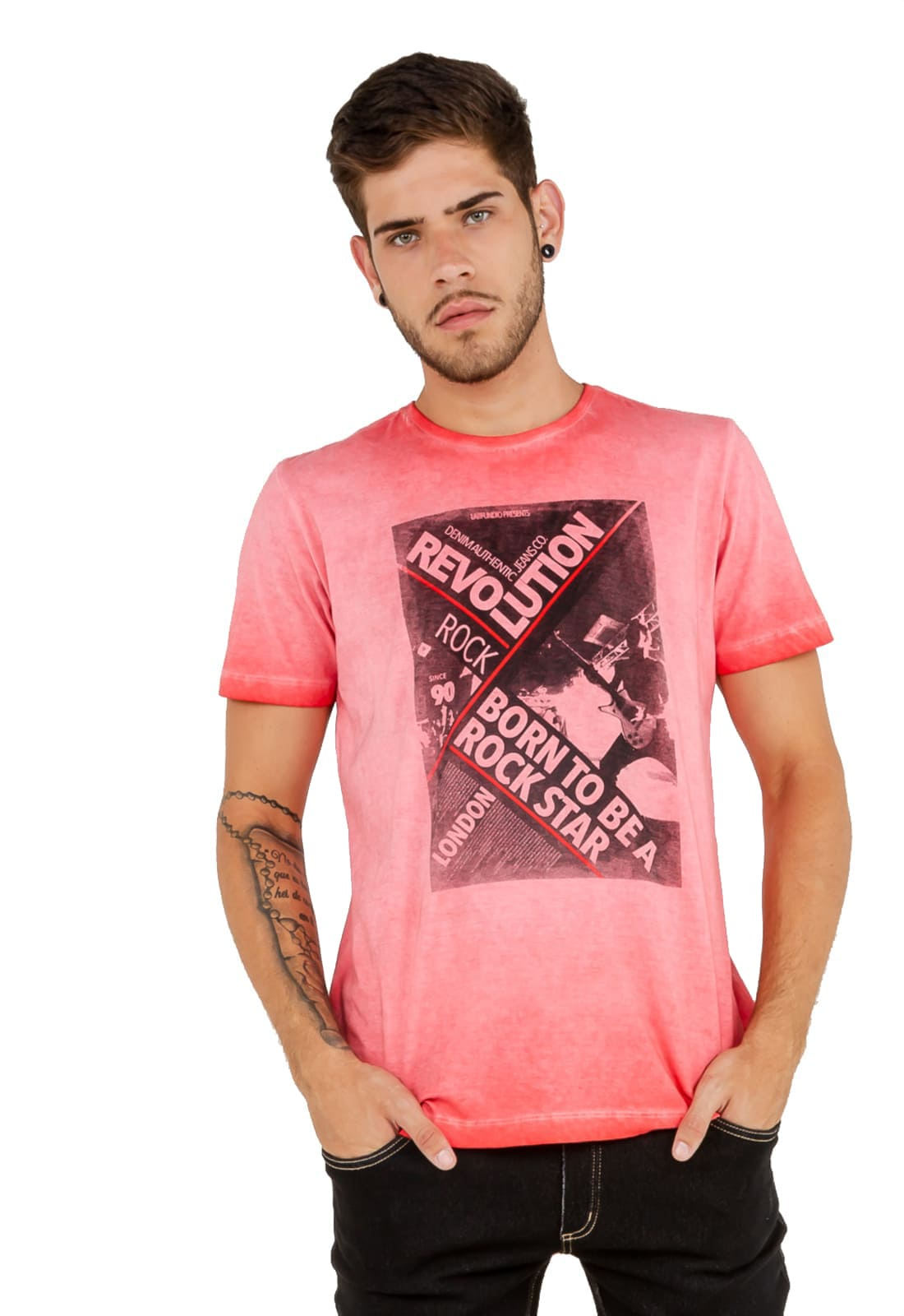 2 T-shirts Masculina - Estampa Rock Star - Motorcycle Club