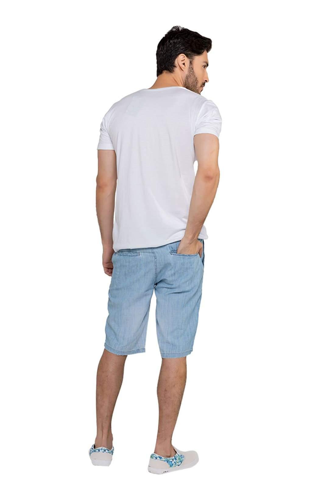 Bermuda Jeans Masculina Classic Claro