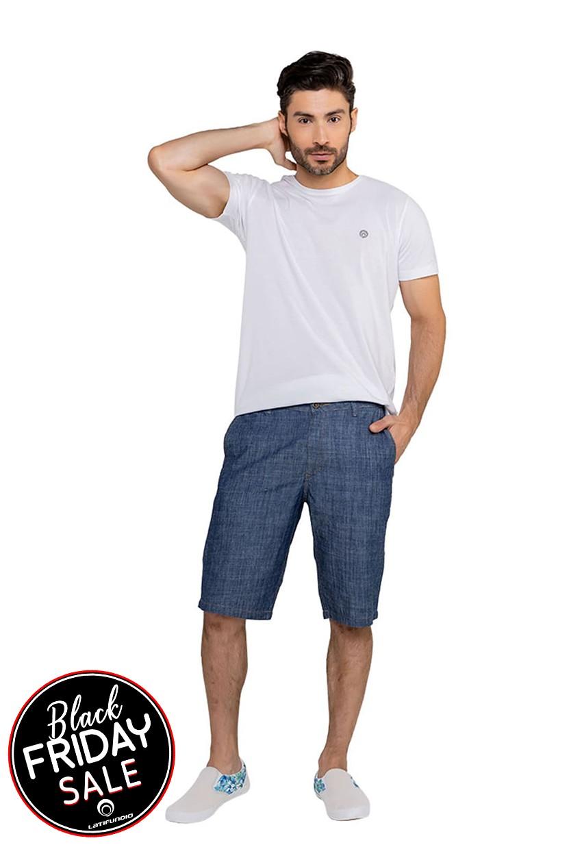Bermuda Jeans Masculina Classic Escuro