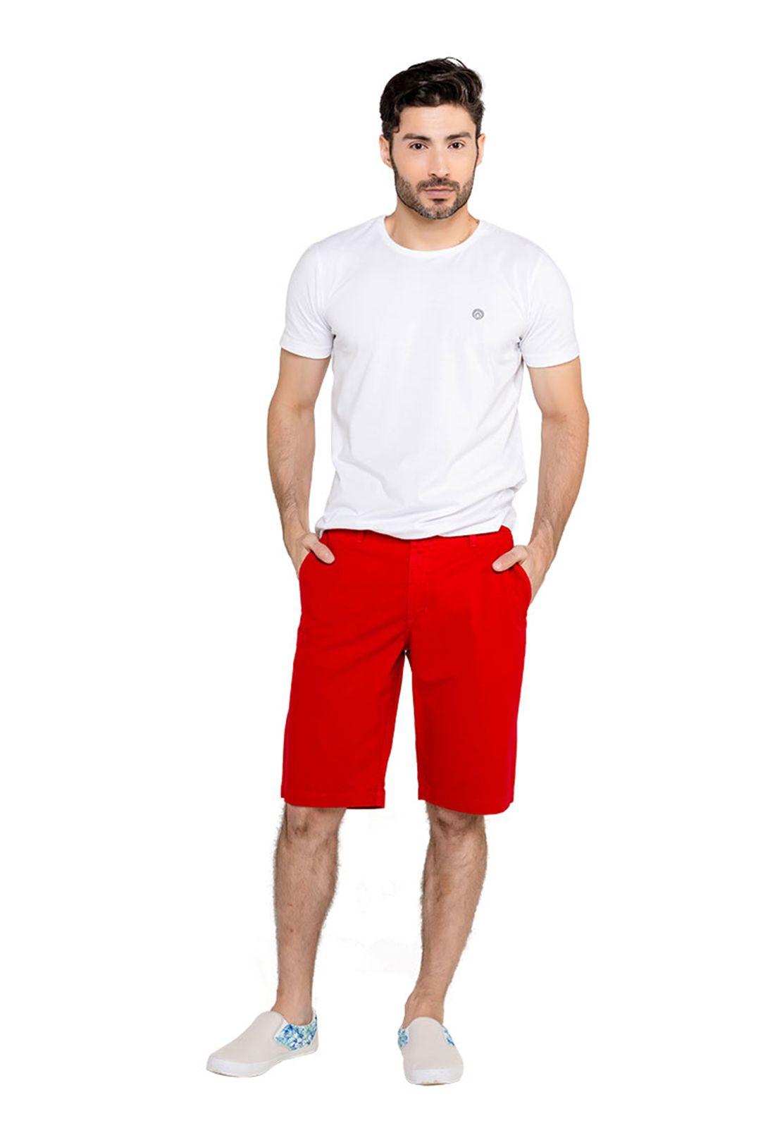 Bermuda Masculina Classic - Vermelha