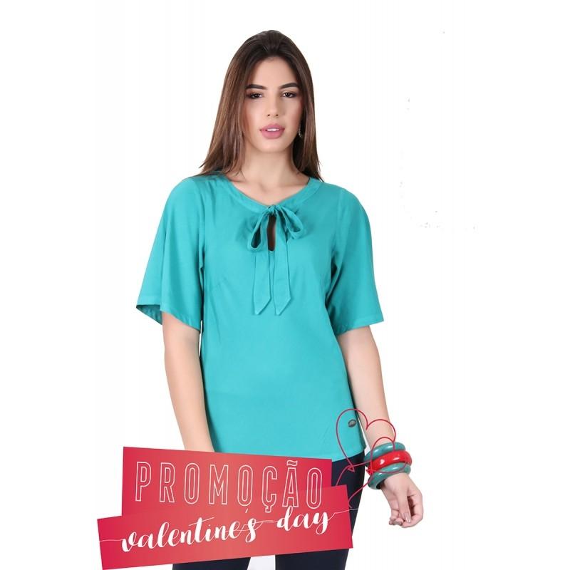 Blusa Feminina Colorida Laço Verde