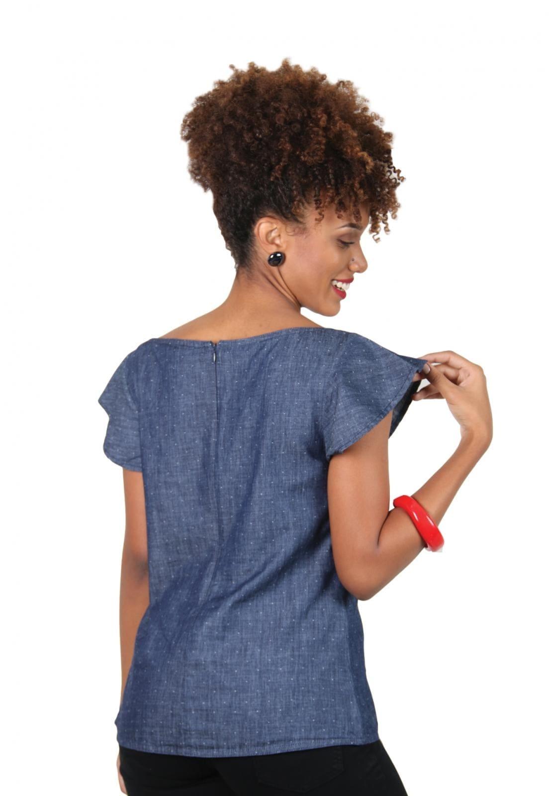 Blusa Jeans Feminina 100% Algodão