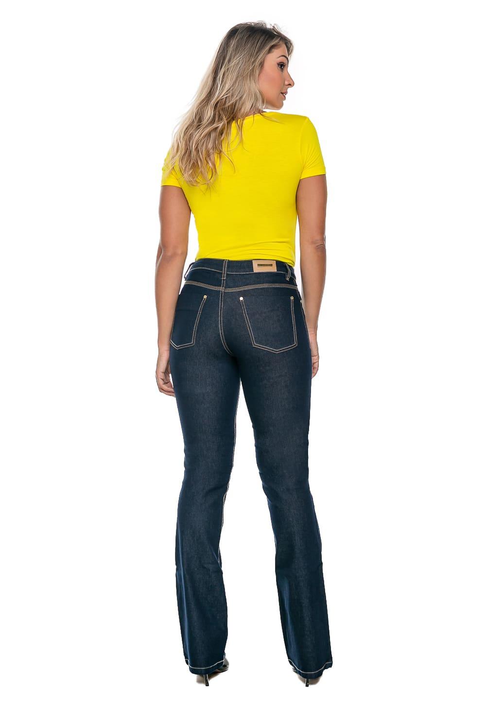 Calça Boot Cut Feminina Jeans